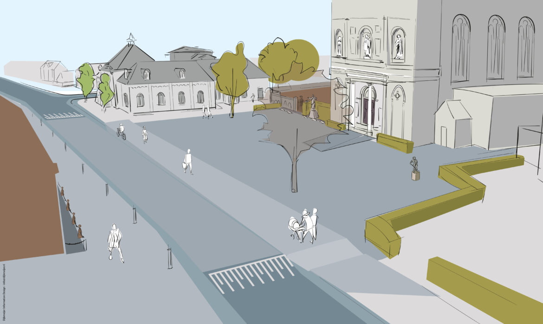 visualisatie herinrichting Kerkplein